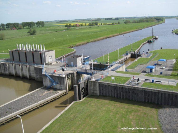 Waddenzee Estafette Sluizencomplex Nieuwe Statenzijl